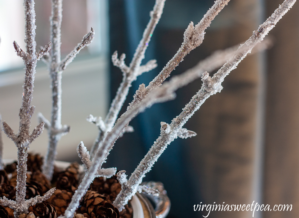 Icy branches made with Epsom salt