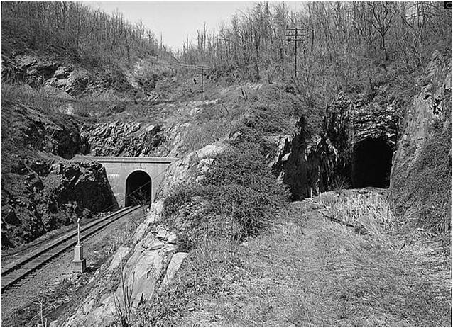 East Train Portals on Afton Mountain
