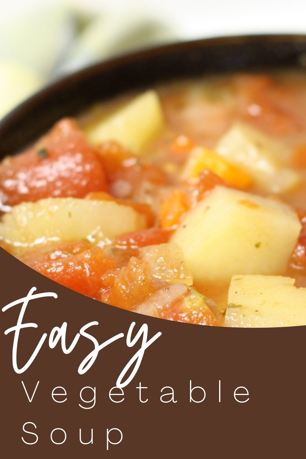 Easy Vegetable Soup is a simple but hearty, and savory soup recipe that the whole family will love! via @spaula