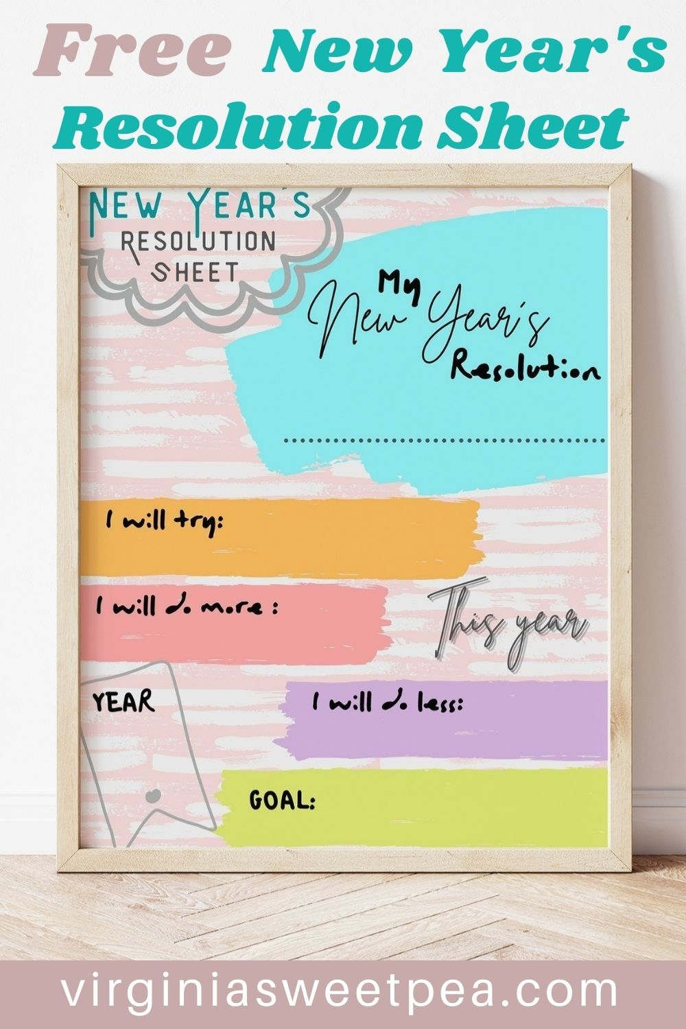 Set your goals for 2021 using this free to print New Year's resolution page.  Post it on your bulletin board, office wall or refrigerator to remind you of what you want to accomplish in 2021. via @spaula