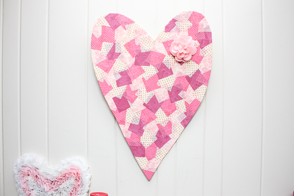 Valentine's Day Faux Patchwork Heart