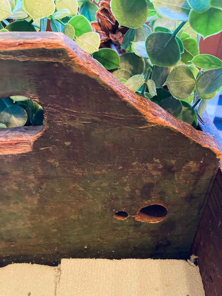 Handmade antique toolbox