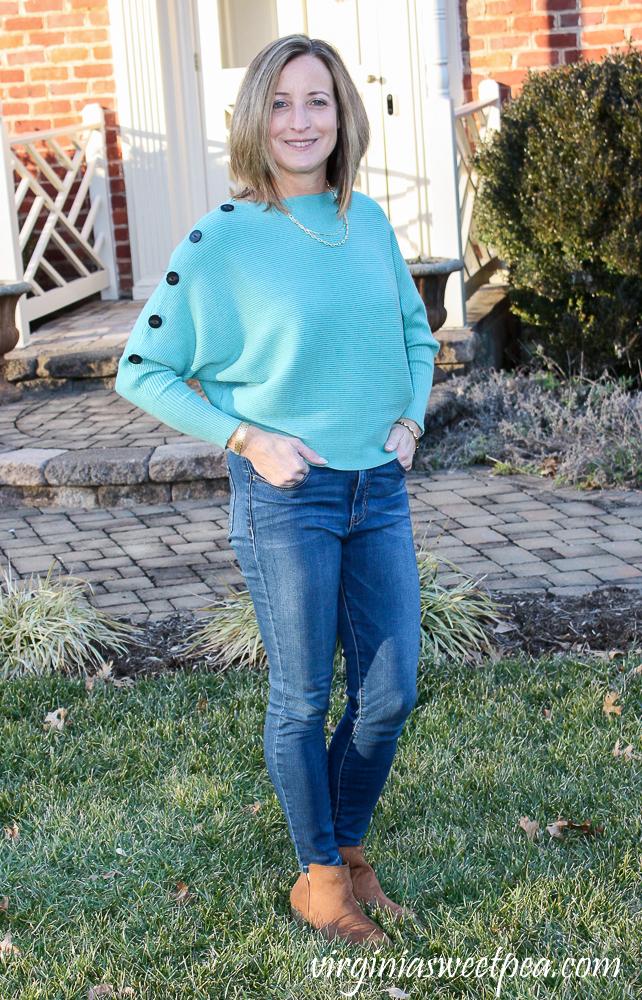 Faith + Zoe Tibi Dolman Sleeve Ribbed Pullover