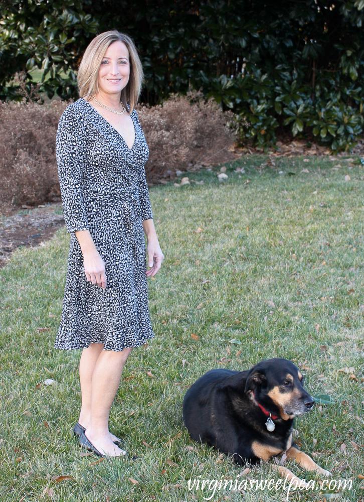 Stitch Fix Leota Libby Faux Wrap Knit Dress