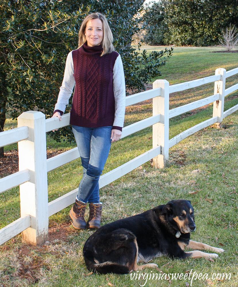 Market & Spruce Bernice Cowl Neck Pullover