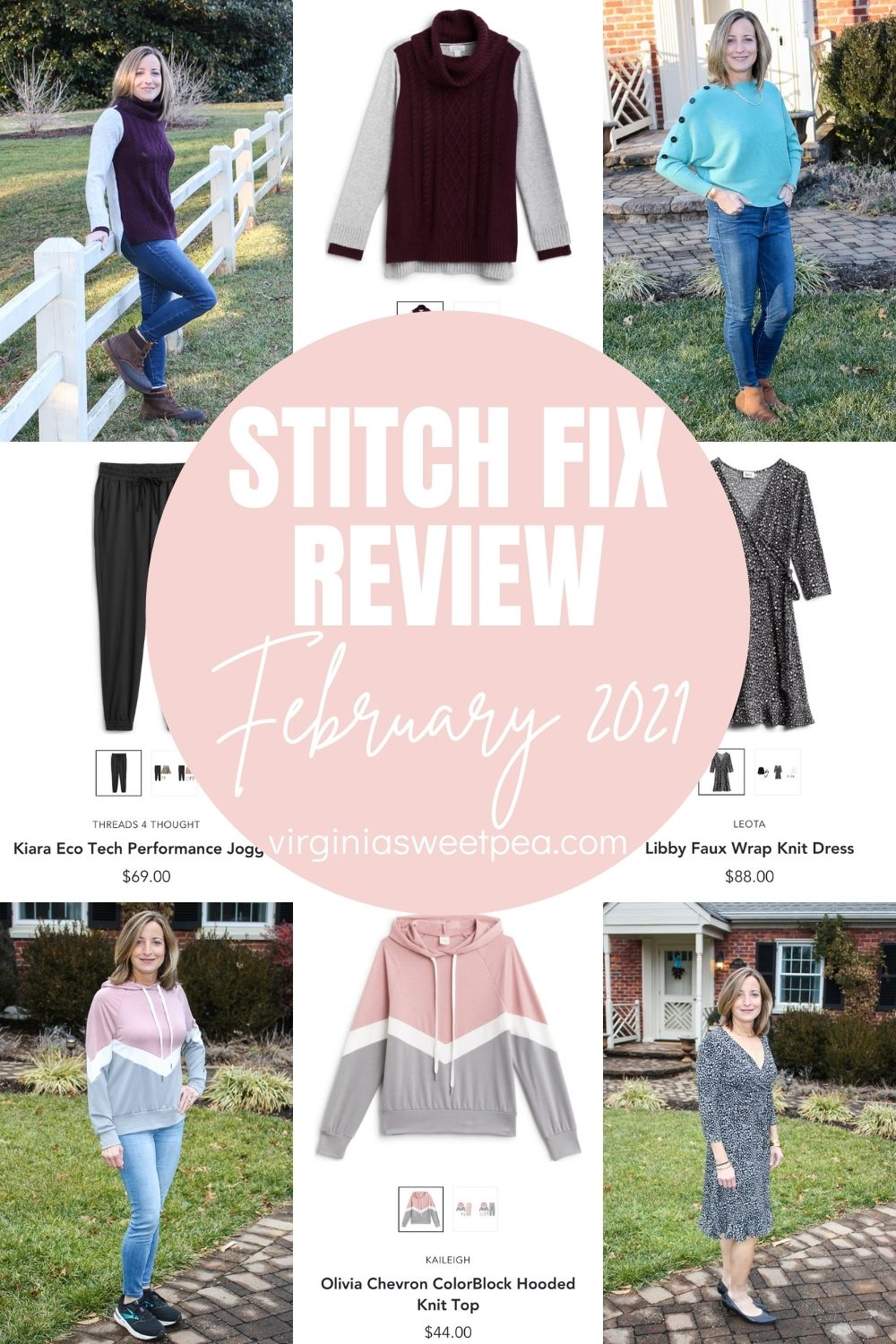 February is here and this month's Stitch Fix box was filled with winter fashion to enjoy.  Athflow is a huge trend and a hoodie plus joggers were styles sent to go with that look.  Stitch Fix outfits dominate my wardrobe and sweaters and a dress are perfect to wear for winter.  See all the details on each item and get Stitch Fix inspiration for your next box.  #stitchfix #stitchfixreview via @spaula