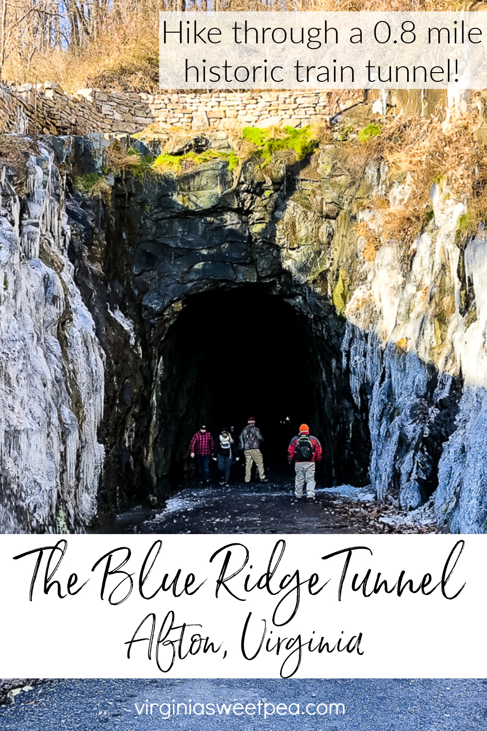 Hike through a 0.8 mile 1850's train tunnel in Afton, VA.  Get tips for visiting this engineering masterpiece that has been closed since 1944 and converted to a hiking trail that opened to the public in November 2020. via @spaula