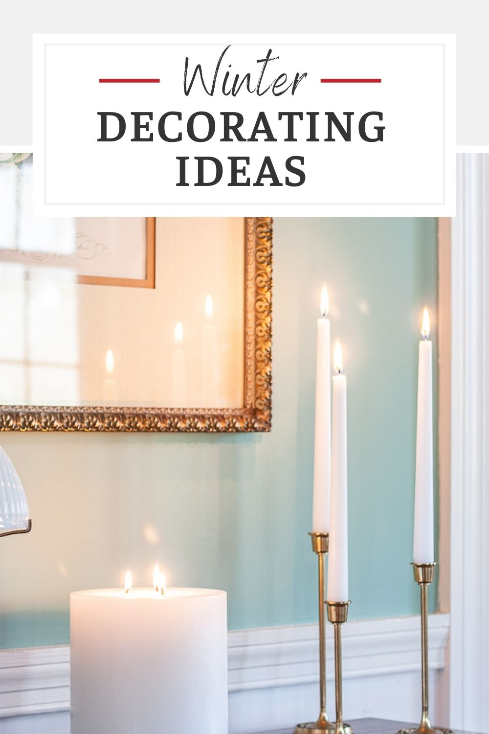 After Christmas is put away, it can be a challenge to decorate for winter.  Get easy ideas for decorating for winter to make your home look and feel cozy for the season.  via @spaula
