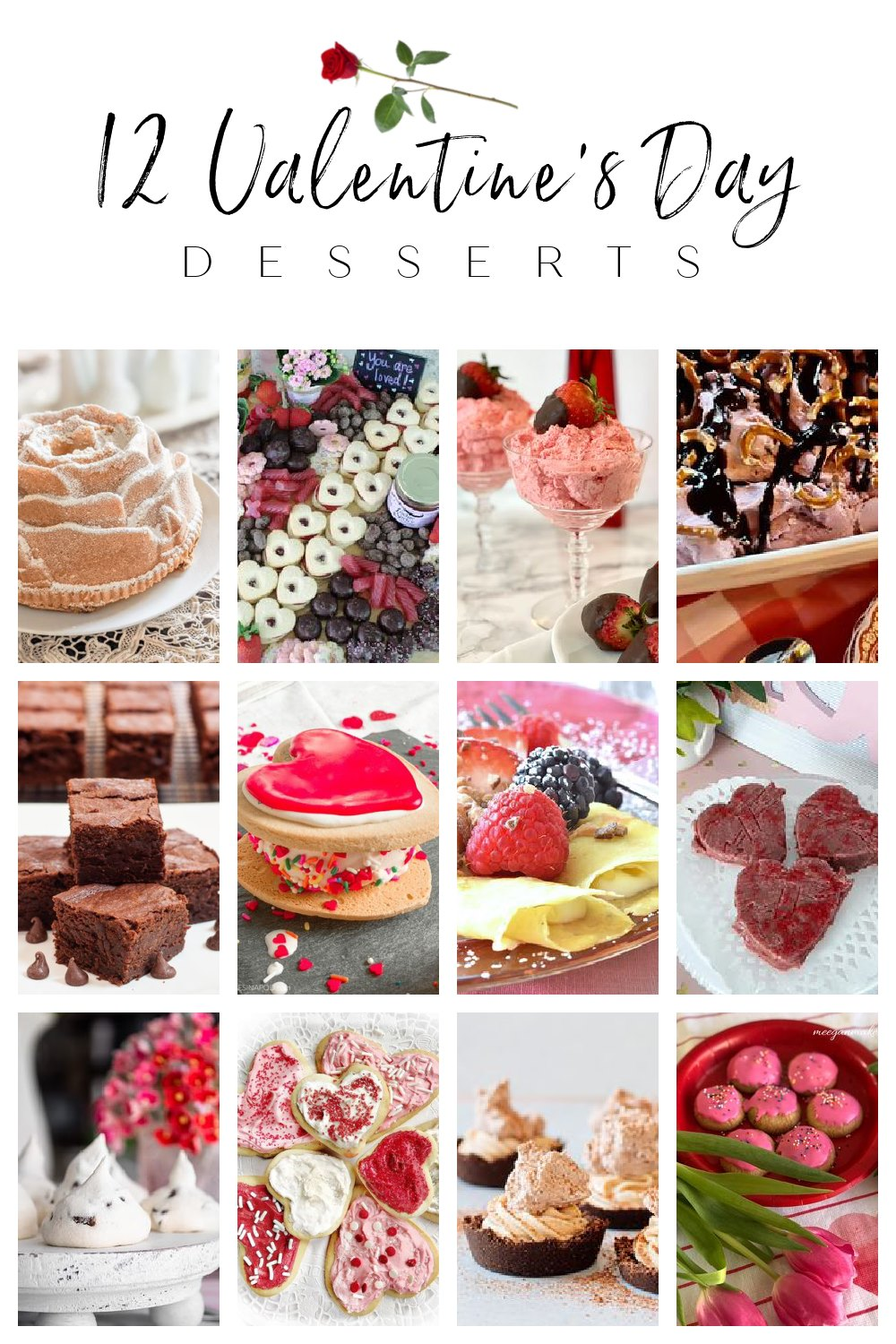 Get ideas for desserts to make for Valentine's Day or any time of the year.  These recipes are tried and true and are sure to please your family, sweetheart, or your galentine. via @spaula