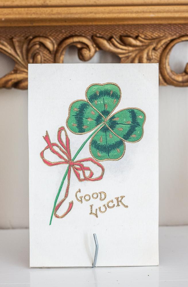 Good Luck vintage St. Patrick's Day postcard