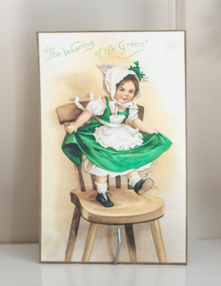 The Wearing of the Green vintage St. Patrick's Day postcard