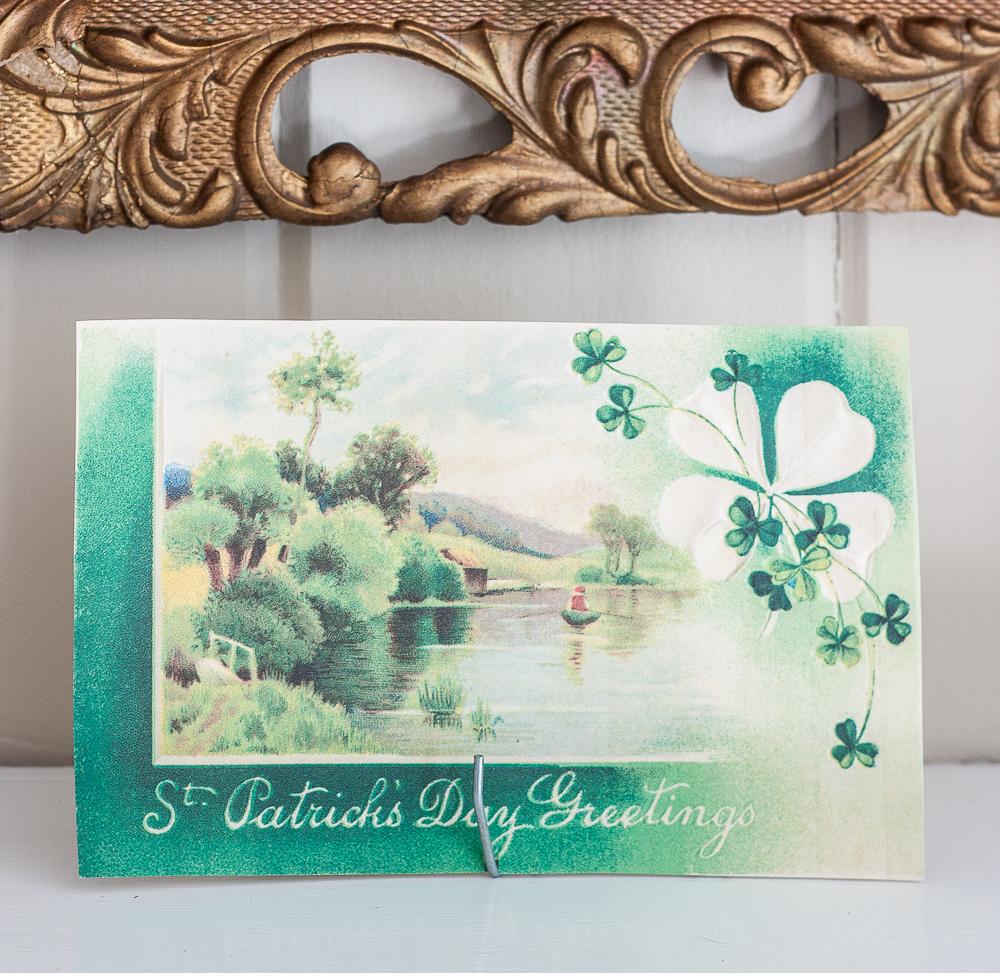 St. Patrick's Day Greetings vintage postcard