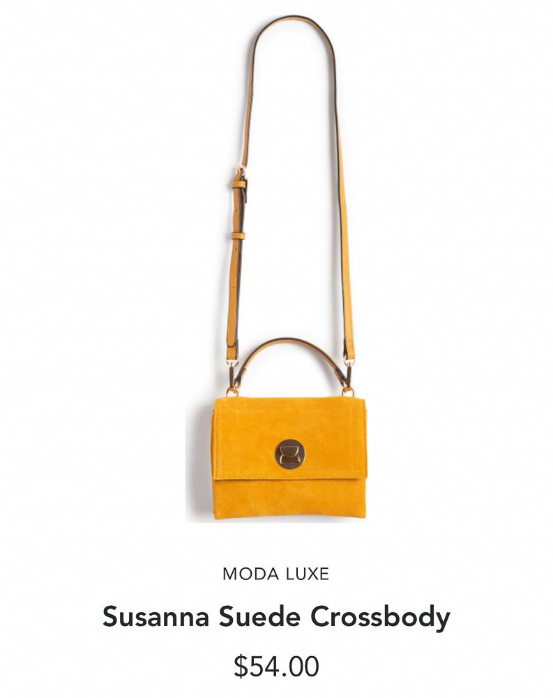 Stitch Fix Moda Luxe Susanna Suede Crossbody