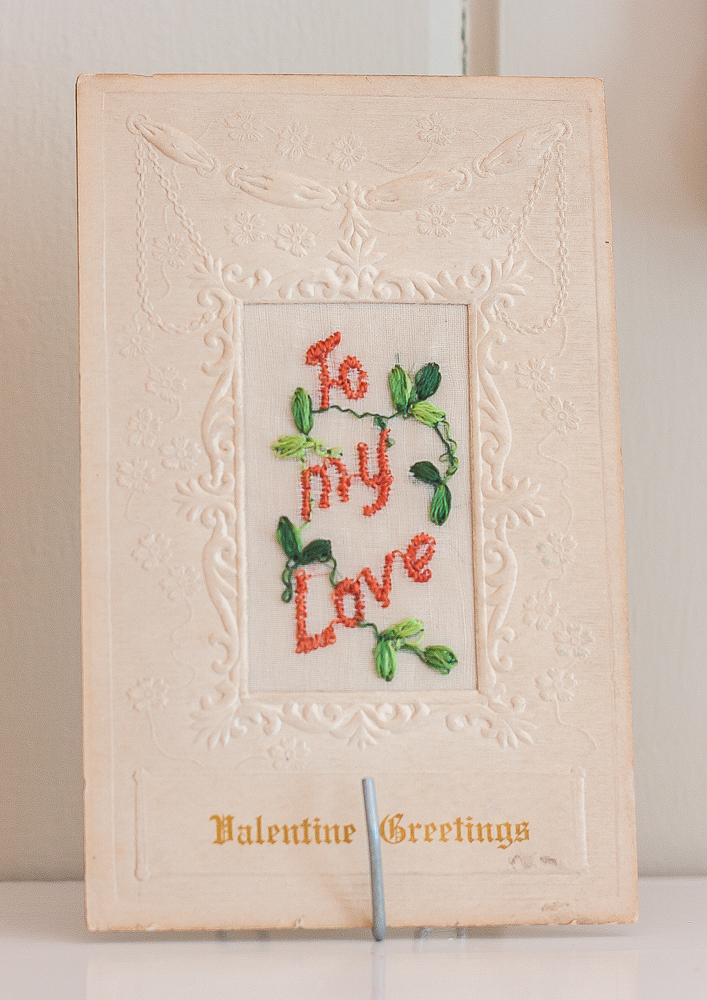 "Early 1900s ""To My Love"" Valentine's Day postcard"