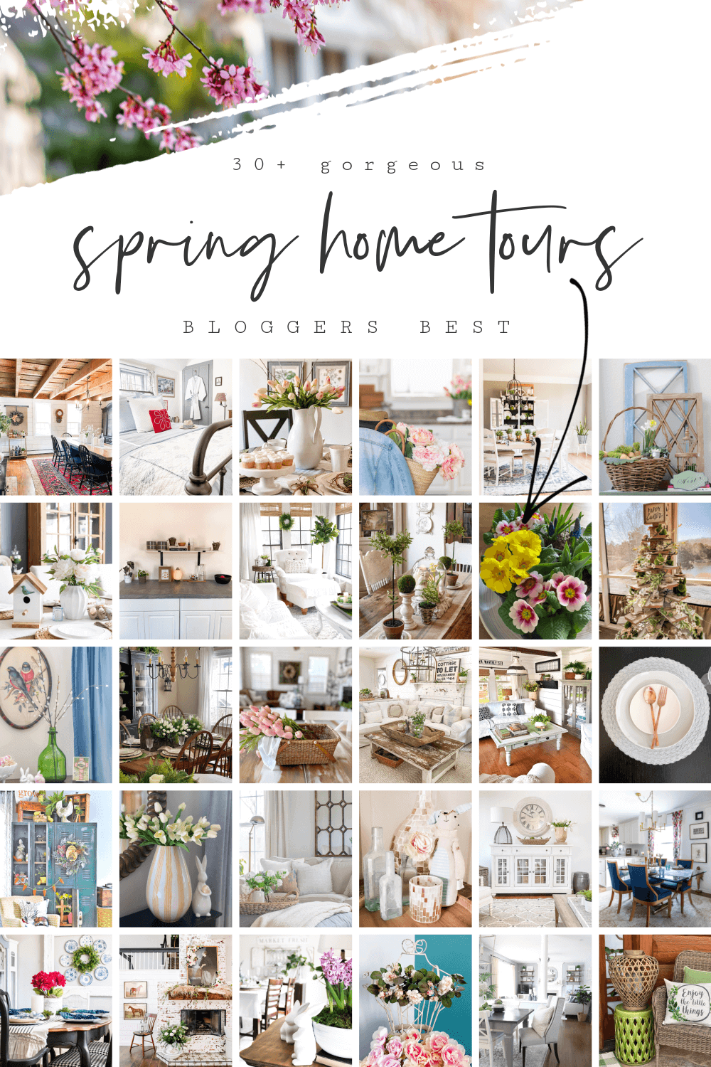 Graphic for Bloggers Best Spring Home Tours