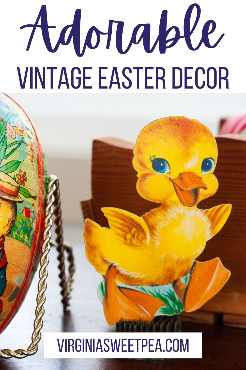 If you like Easter decor and vintage, you are going to love seeing this home's Easter decorations.  Decorations from the 1940s through the 2020s are used to decorate this home for Easter.  You are sure to be inspired to decorate your home for Easter after reading this blog post. via @spaula