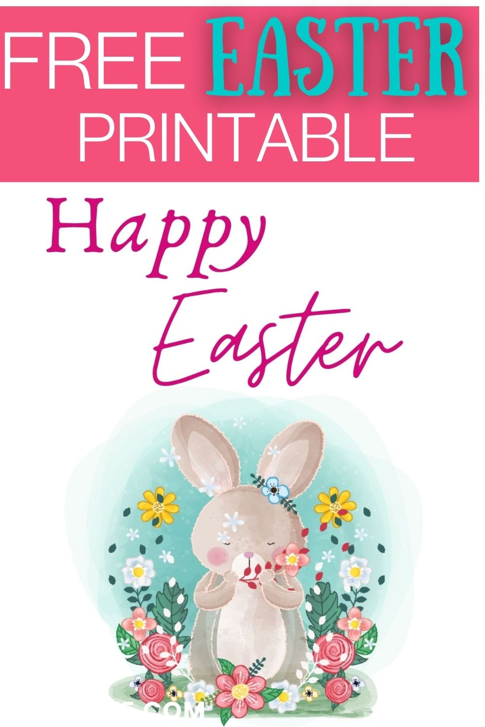 Use this free Easter printable to decorate your home, classroom, or office for the season.  Print it out and either hang it as is or pop it into a frame to use anywhere that you want to add a touch of Easter decor. via @spaula