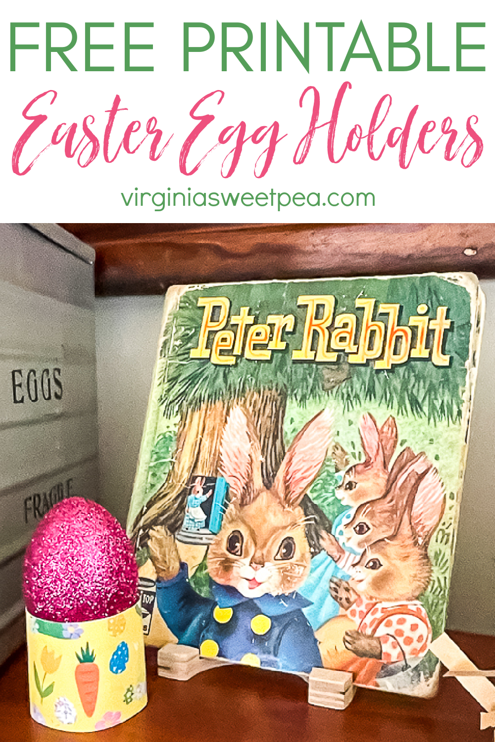 Use these free printable Easter egg holders to display eggs for Easter.  Print on cardstock cut them out, and they are ready to be enjoyed.  There are eight patterns in a variety of colors.  Kids or adults will enjoy using these! via @spaula
