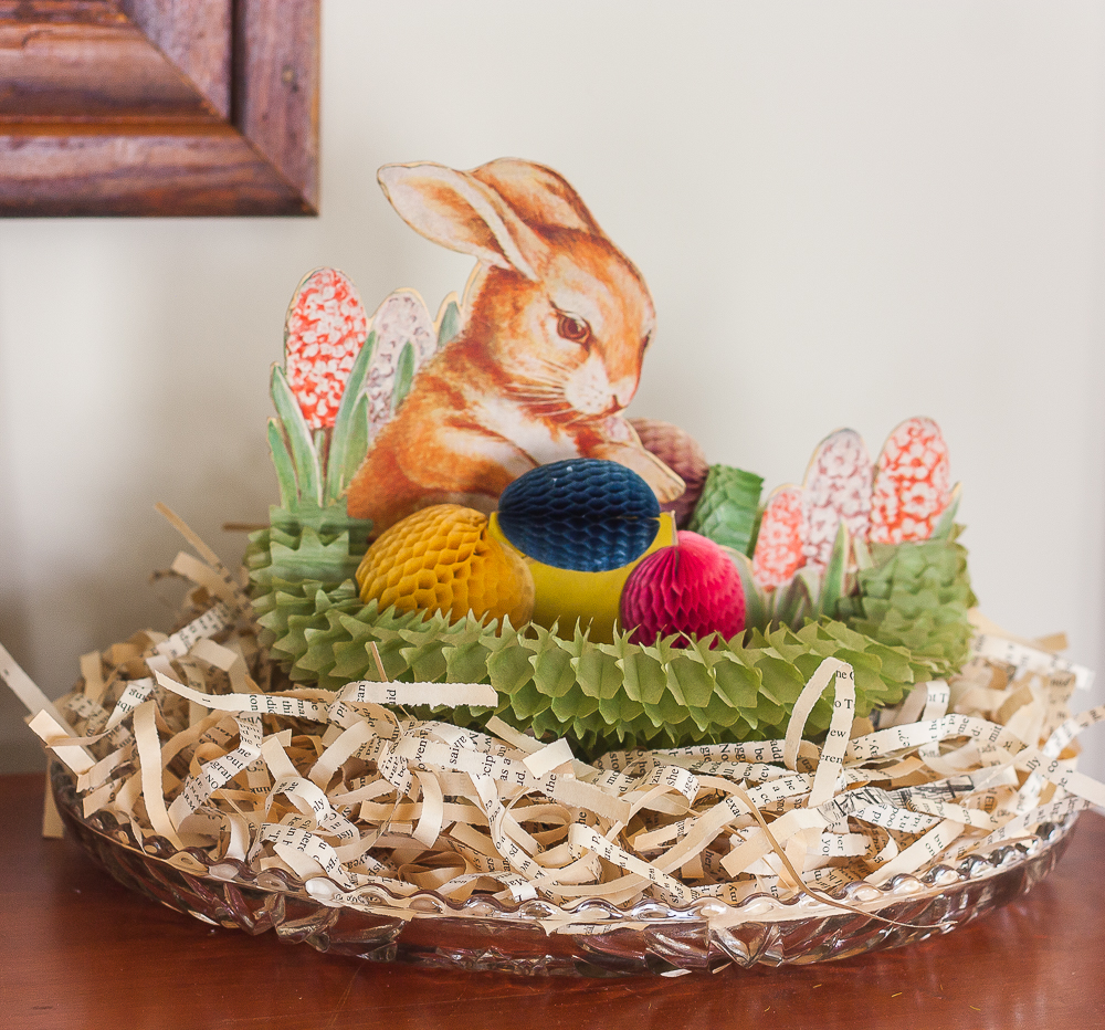 Vintage1960 Easter Bunny Honeycomb Centerpiece