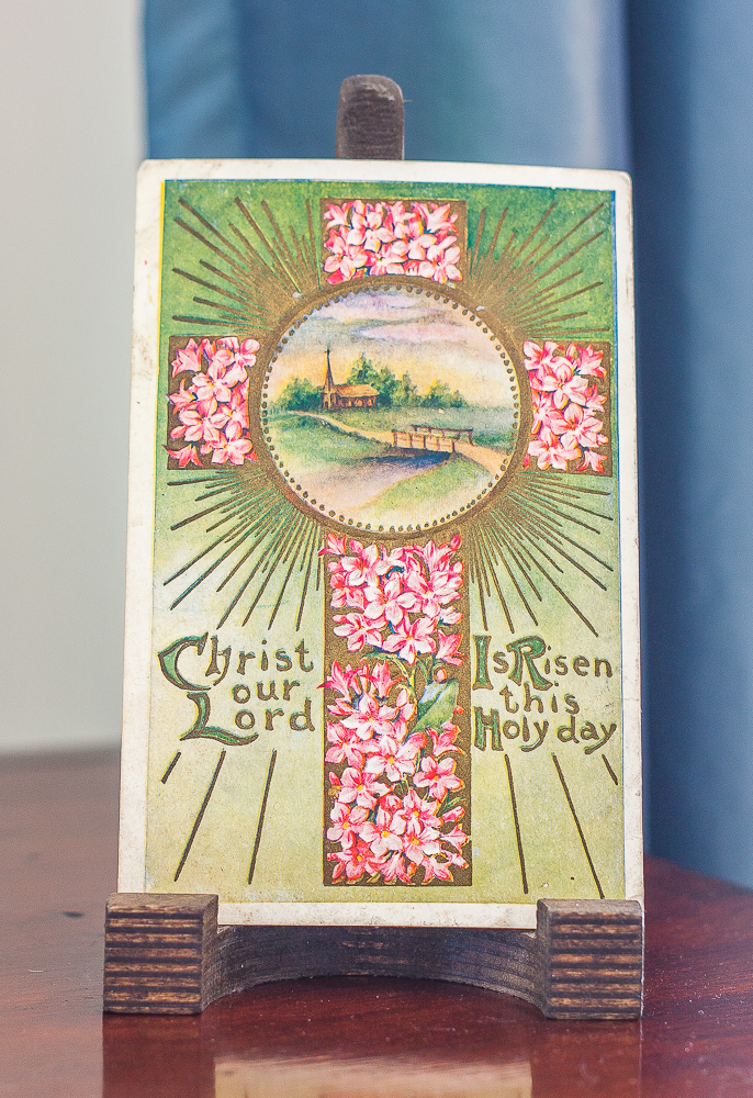 Early 1900s Christ Our Lord Is Risen this Holy Day Easter postcard