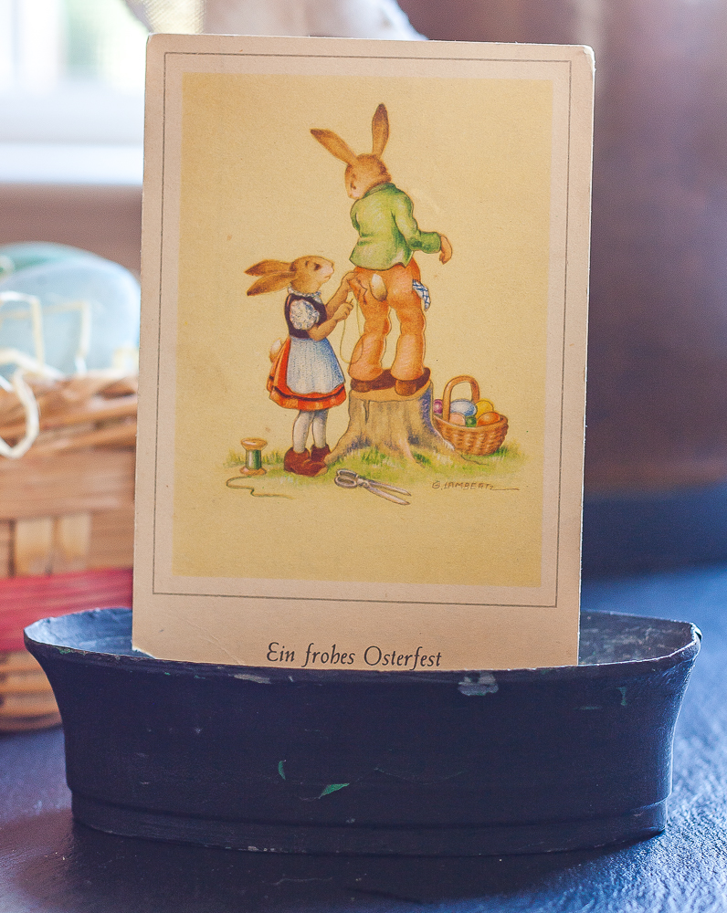 Ein Frohes Osterfest vintage Easter German postcard