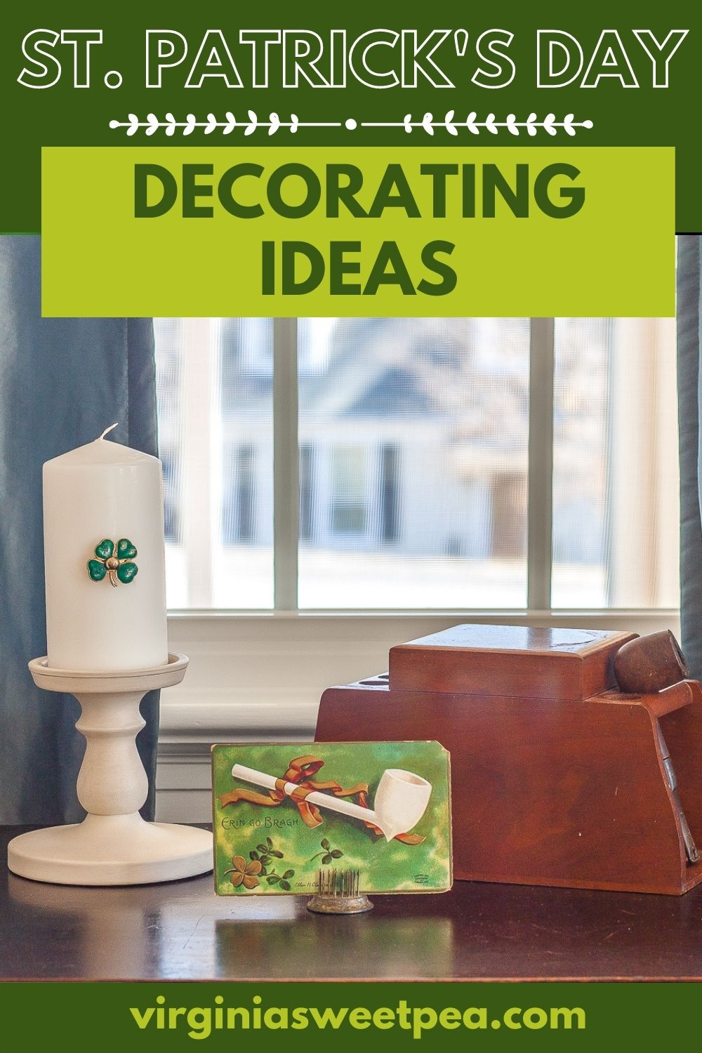 See ideas for how to decorate your home for St. Patrick's Day.  See creative vignettes that will inspire you to add some St. Patrick's Day decor to your home. via @spaula