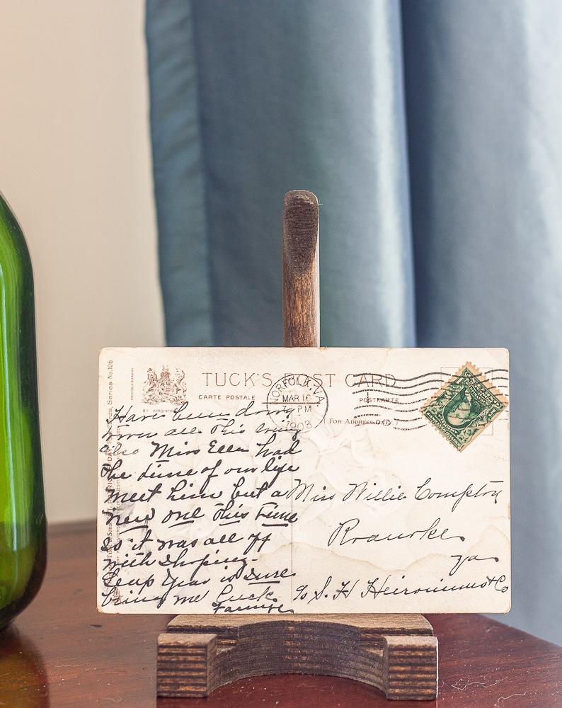 Back of a vintage St. Patrick's Day postcard