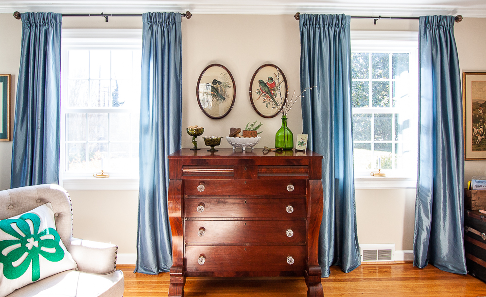 Antique chest of drawers decorated for St. Patrick's Day