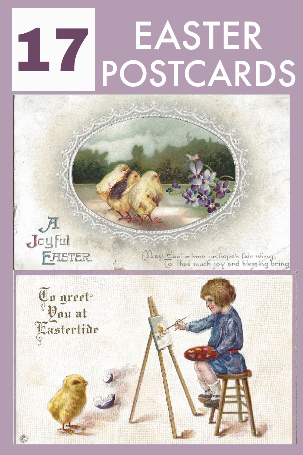 See a collection of inherited antique and vintage Easter postcards.  Most of these beautiful cards are over 100 years old.  The graphics are amazing as well as the messages on the back of the cards and also the stamps. via @spaula