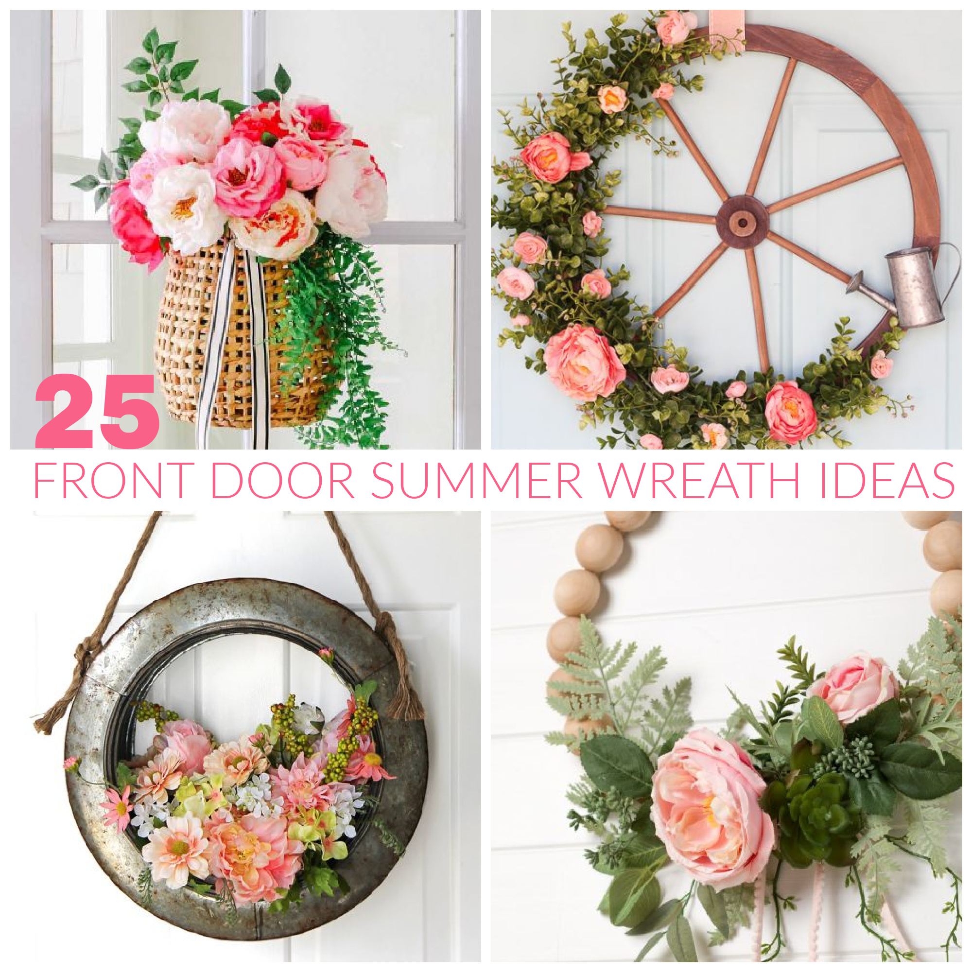 25 Front Door Summer Wreath Ideas