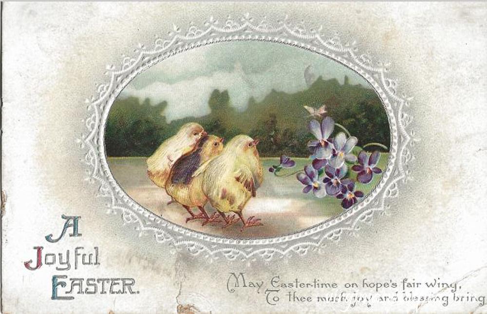 A Joyful Easter Antique Postcard