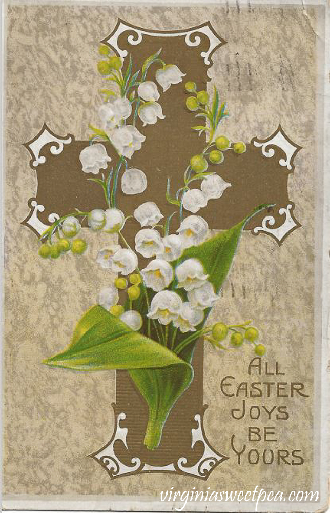 All Easter Joys Be Yours Antique Postcard