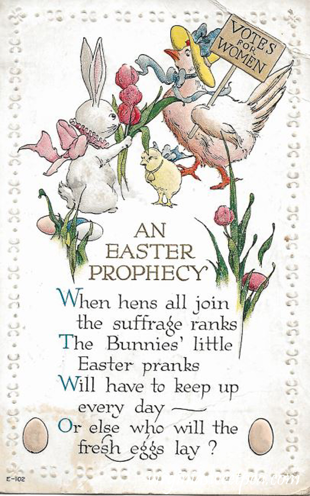 An Easter Prophecy Antique Postcard