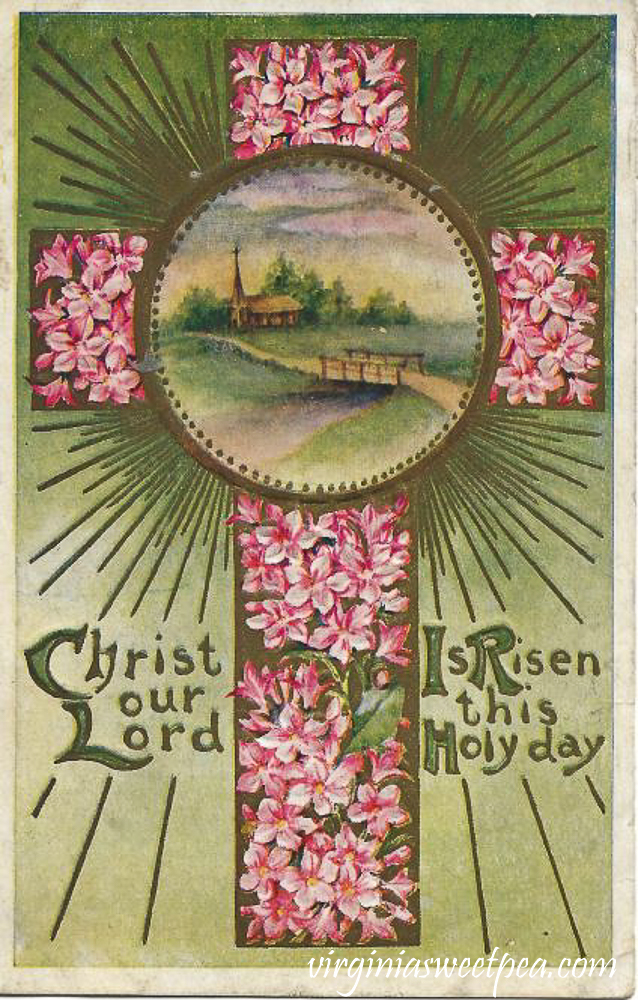 Christ Our Lord Is Risen this Holy Day Antique Postcard