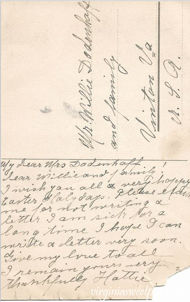Ein frobes Osterfest Antique Postcard - Back Side