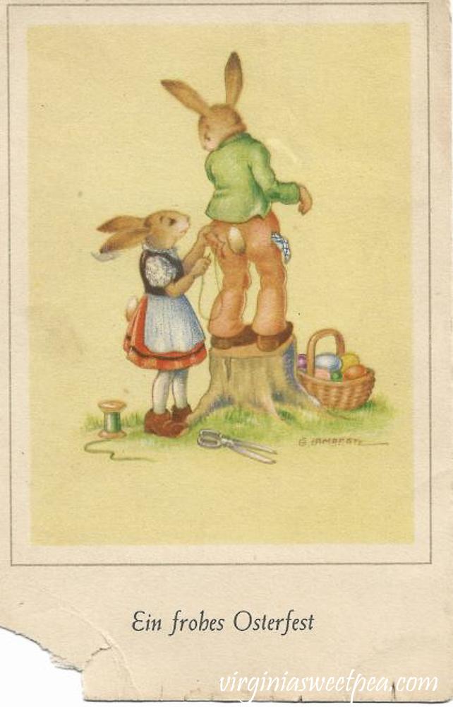 Ein frobes Osterfest Antique Postcard