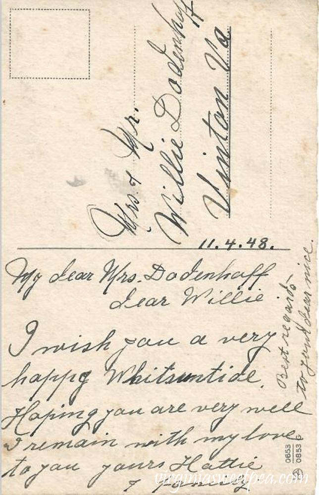 Frohes Pfingstfest Vintage Postcard - Back Side