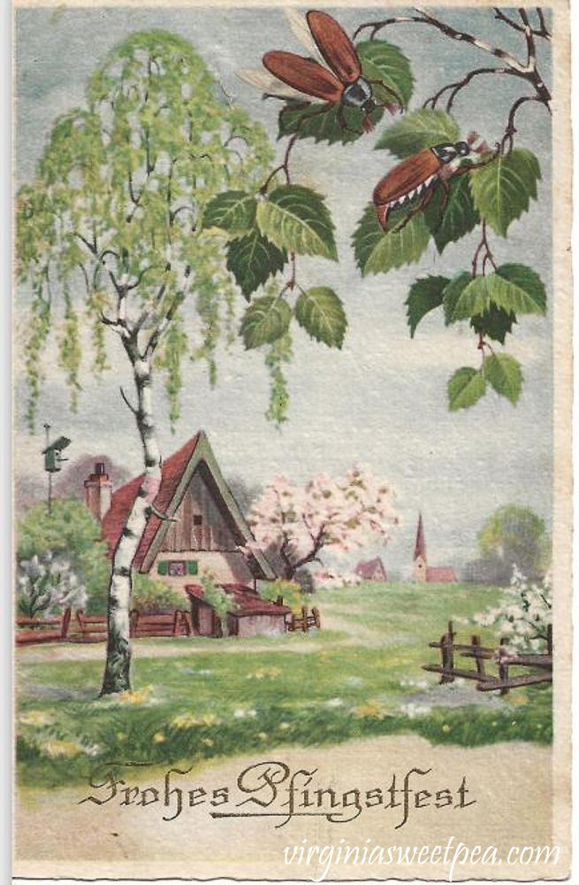 Frohes Pfingstfest Vintage Postcard