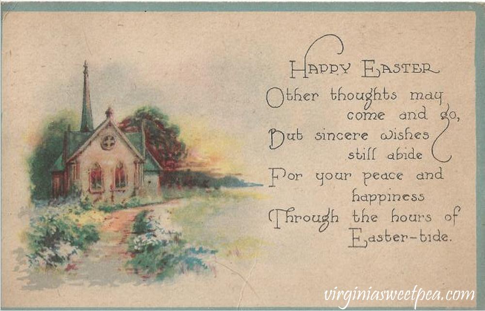 Happy Easter Antique Postcard
