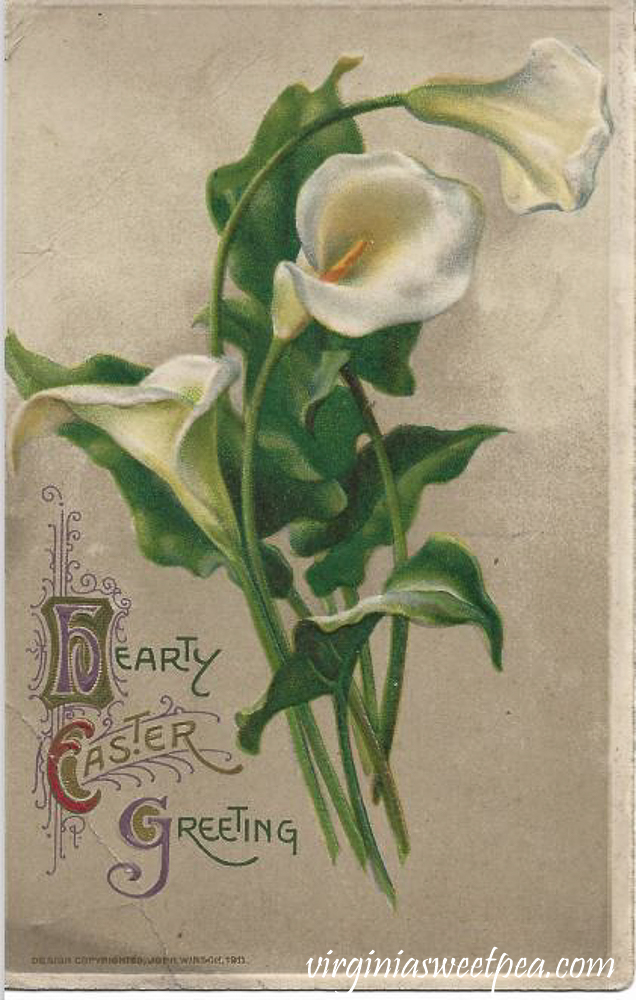 Hearty Easter Greetings Antique Postcard_