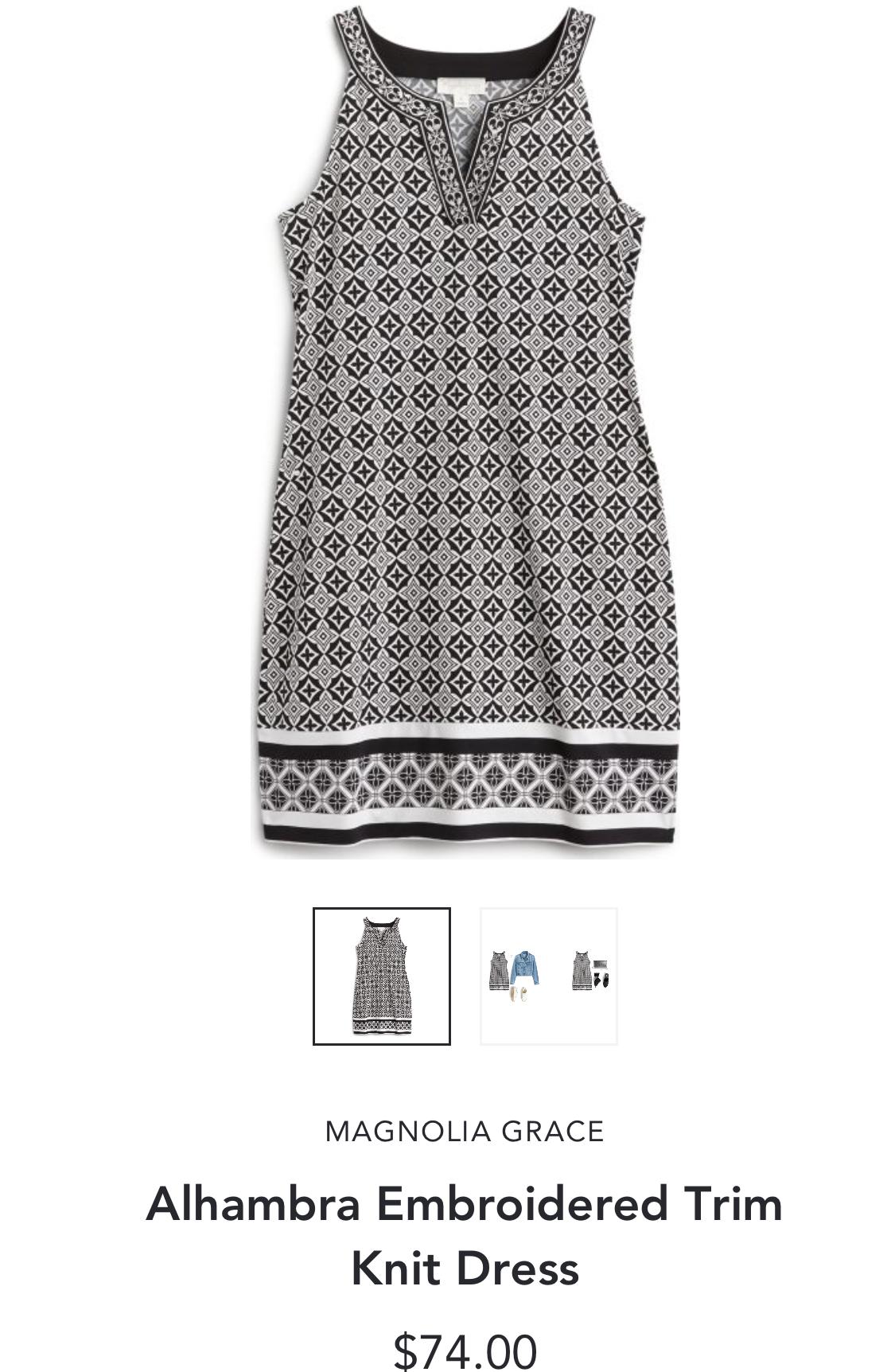 Stitch Fix Magnolia Grace Alhambra Embroidered Trim Knit Dress