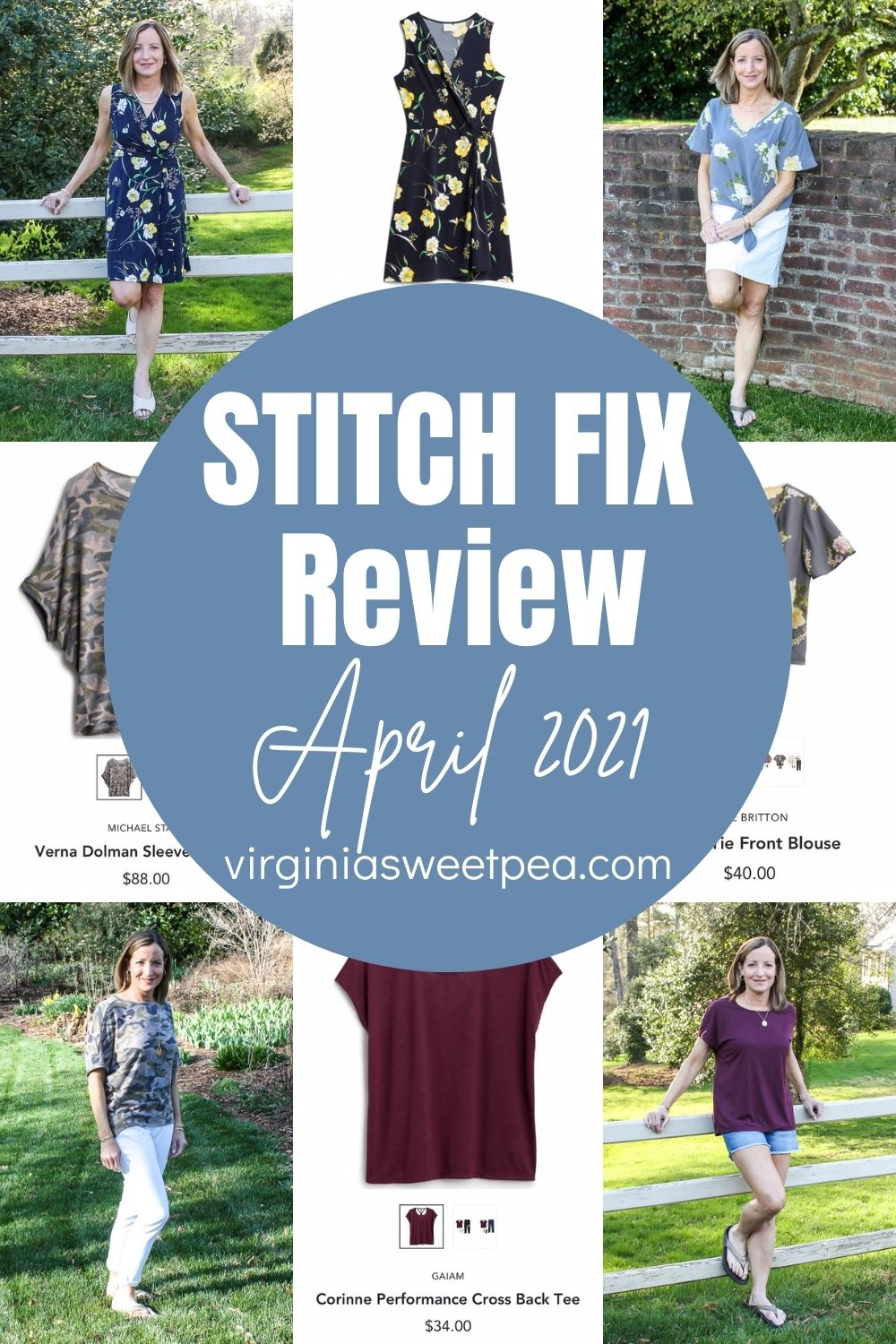 Spring is here and my April Stitch Fix box was filled with fashions to enjoy throughout spring and into summer.  Stitch Fix outfits dominate my wardrobe and the tops, dress, and shorts sent this month are great additions to my wardrobe.  See all the details on each item and get Stitch Fix inspiration for your next box.  #stitchfix #stitchfixreview via @spaula