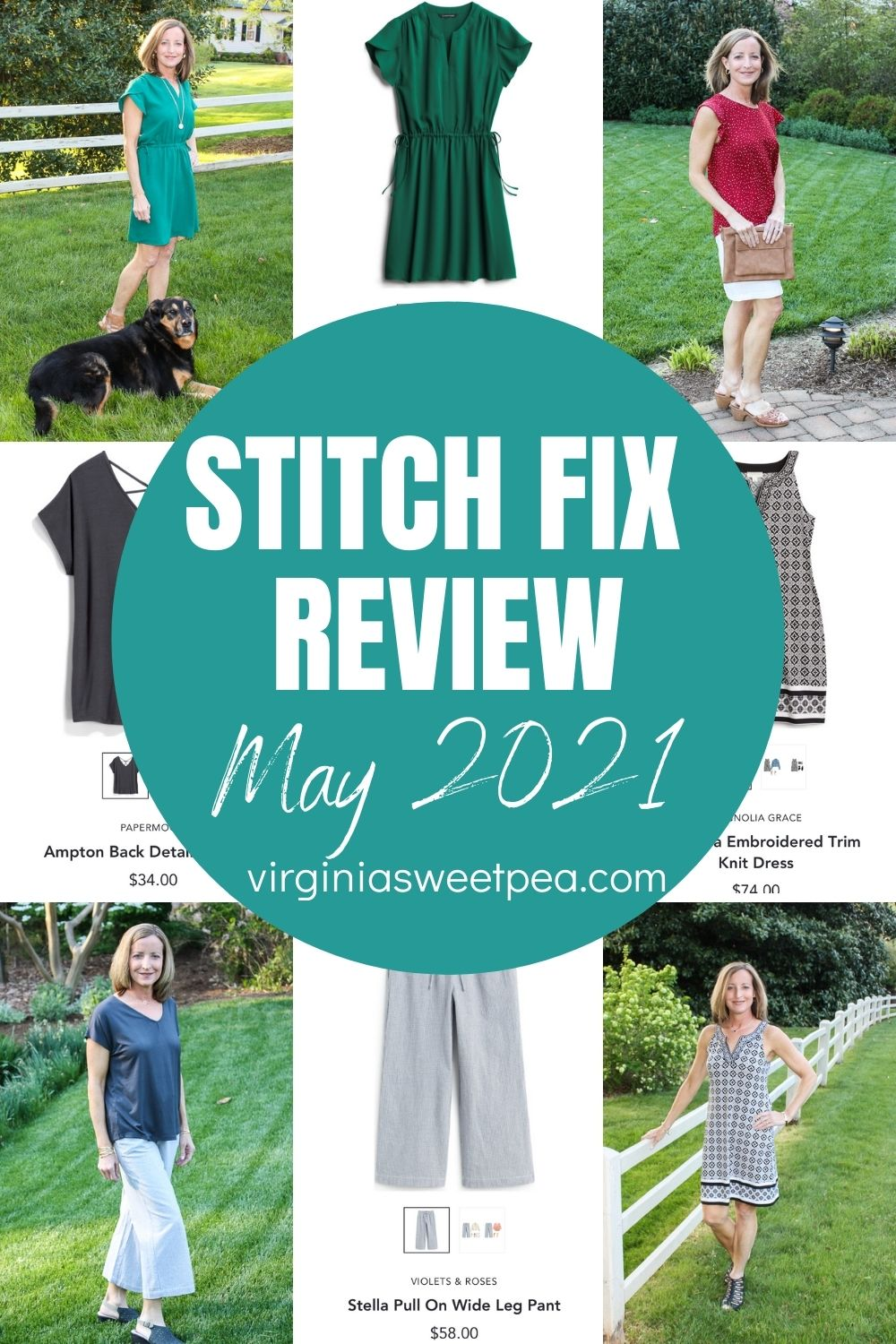 May is here and this month's Stitch Fix box was filled with fashions to enjoy throughout spring and into summer.  See what my stylist picked for me to try for May and get Stitch Fix inspiration for your next box.  #stitchfix #stitchfixreview via @spaula
