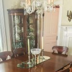 Dining room decorated with antiques on a 1912 home