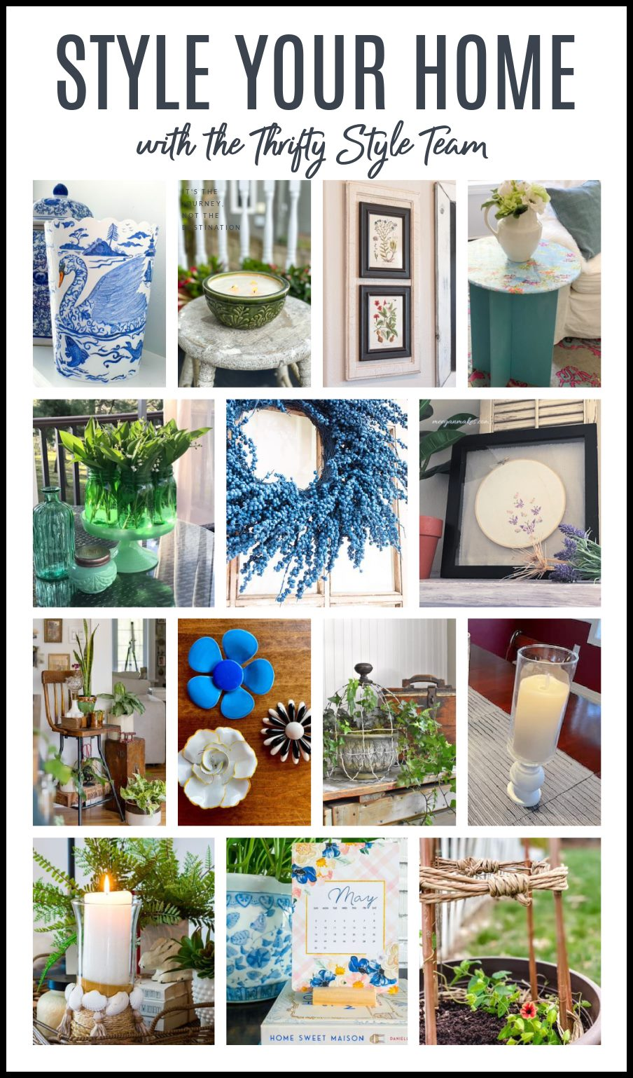 Photo collage of 14 Thrifty DIY Home Decor Project for Summer