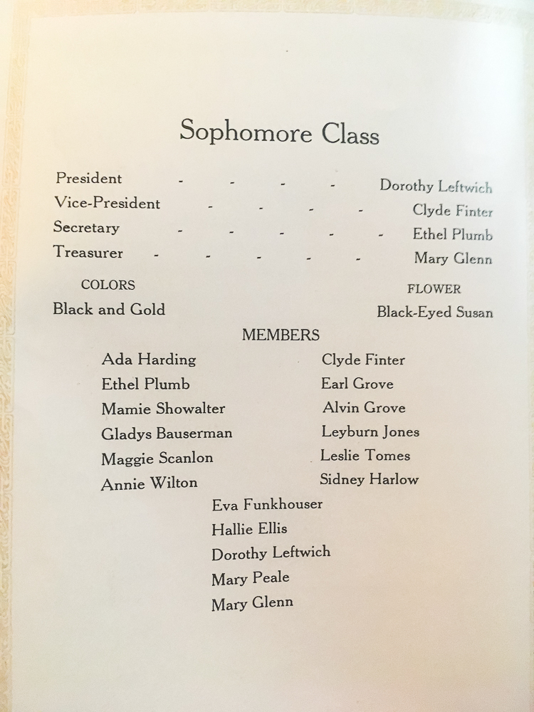 1911 Sophomore Class Waynesboro High School, VA