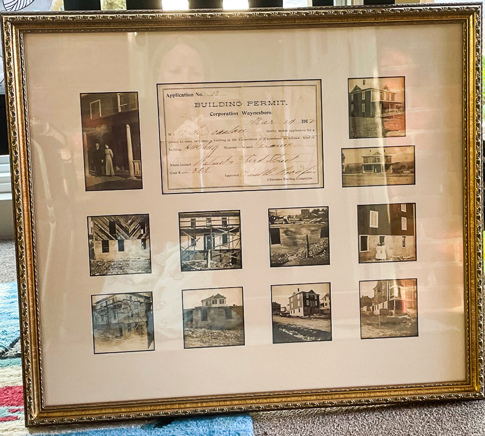 Building pictures and permit from 1912 Walnut Avenue, Waynesboro, VA
