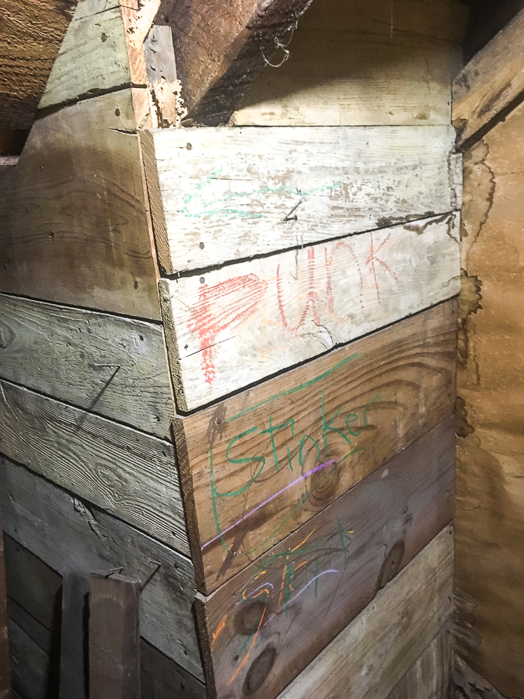 Hidden Storage Area in the Attic of a 1912 Home