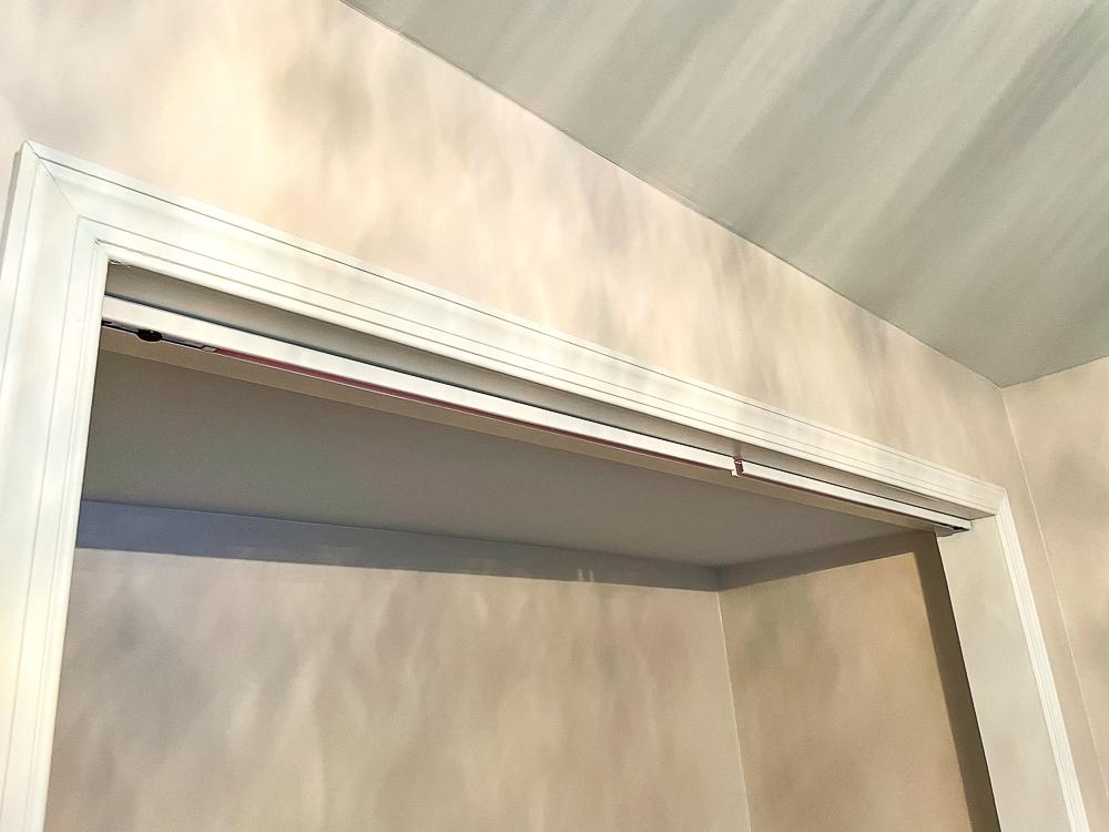 Closet headers for installing bifold closet doors
