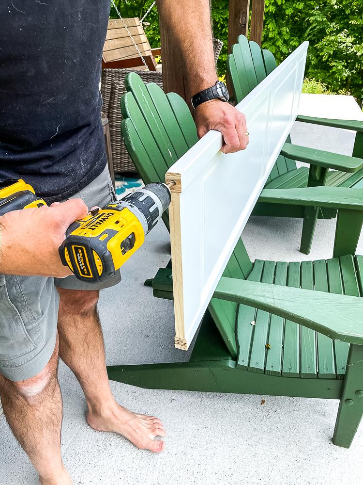 Making hole deeper for the bottom pivot on bifold closet doors
